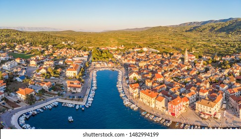 Aerial view of Stari Grad on Croatia - Shutterstock ID 1482994199