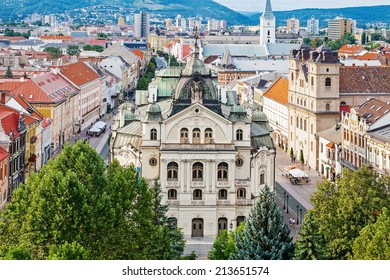 Aerial view of state theater in Kosice, Slovakia