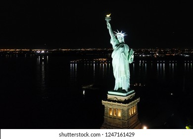 Aerial View Statue of Liberty