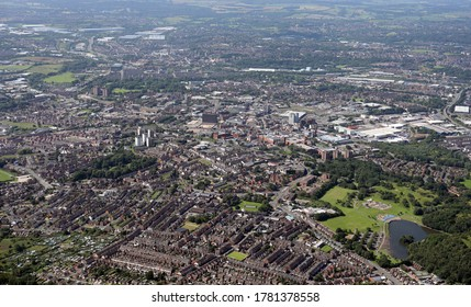 aerial view of Stoke on Trent, Staffordshire, England