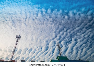 An aerial view of stratocumulus clouds , clouds texture
