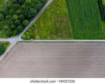 aerial view street