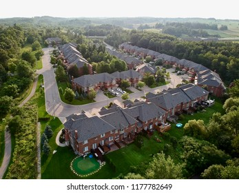 Aerial view of a subdivision