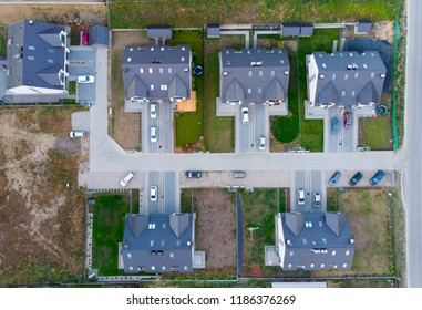Aerial view of suburb near Gdansk (Poland).g