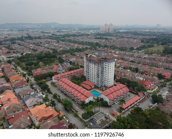 an aerial view of a suburban township in malaysia