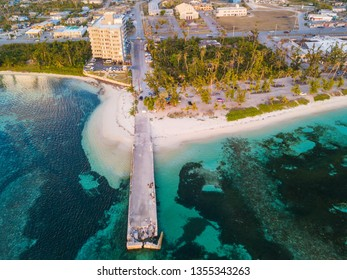 An aerial view of Sugar Dock on the island of Saipan. Photograph was taken March 22, 2019 on the island of Saipan.