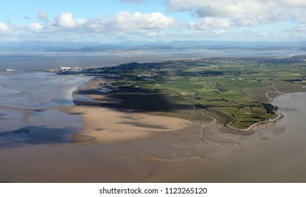 aerial view of Sunderland Point near Morecambe in Lancashire