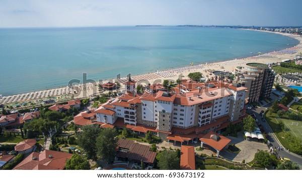 Luftaufnahme von Sunny Beach, Bulgarien