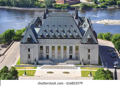Aerial view of Supreme Court of Canada, Ottawa, Canada