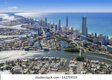Aerial view of Surfers Paradise, Queensland, Australia