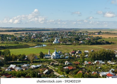 Aerial view of Suzdal from the highest bell tower of the city.