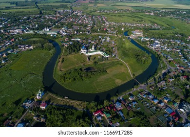 Aerial view of Suzdal Kremlin