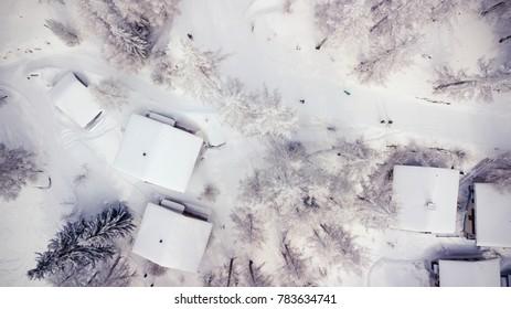 Aerial view of a Swiss village   Switzerland   Wallis   Bellwald
