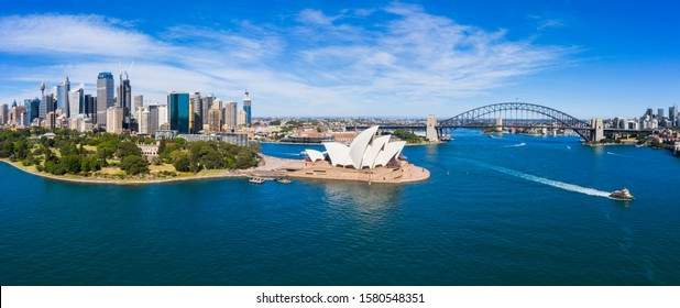 Aerial View of Sydney, Australia. Drone shot. Panorama