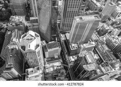 Aerial view of Sydney skyline, Australia.