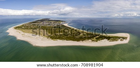 Aerial view of Sylt island, nothern Germany