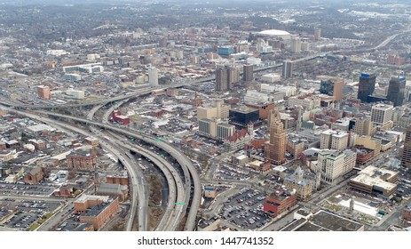 Aerial View of Syracuse Downtown