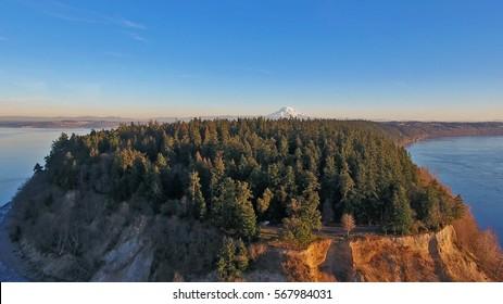 Aerial view of Tacoma, WA
