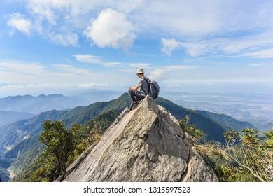 Aerial View Of Taichung Plain From The Peak Of Yuanzui Mountain (Birds Beak Mountain), Yuantsuishan Shaolaishan Rocky Trails At Dasyueshan National Forest Recreational Area, Taichung ,Taiwan
