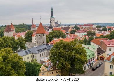 Aerial view of Tallinn Old Town, Estonia