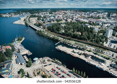 Aerial view to the Tampere town