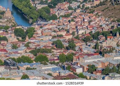Aerial view of Tbilisi, capital of Georgia