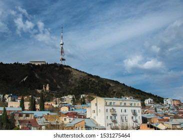 Aerial view of Tbilisi city, Georgia