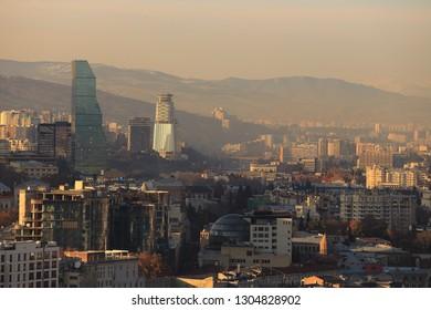 Aerial view of Tbilisi, Georgia