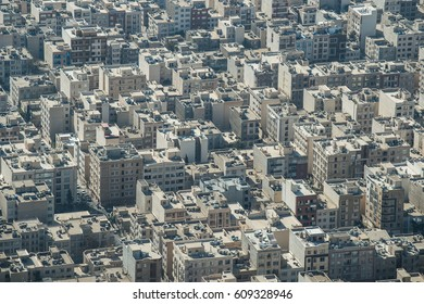 Aerial view of Tehran, the capital city of Iran View from Milad Tower also known as the Tehran Tower