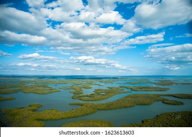 Aerial view of the Ten Thousand Islands in Everglades National Park - Shutterstock ID 1623613603
