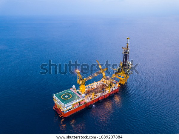 Aerial View Tender Drilling Oil Rig Stock Photo (Edit Now) 1089207884