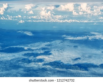 An aerial view of Thailand mountains, Burma and the Andaman and Nicobar Islands in the background