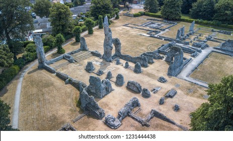 Aerial view of Thetford Priory ruins