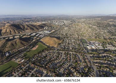 Aerial view of Thousand Oaks near Los Angeles, California.