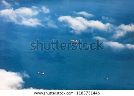Aerial view through a