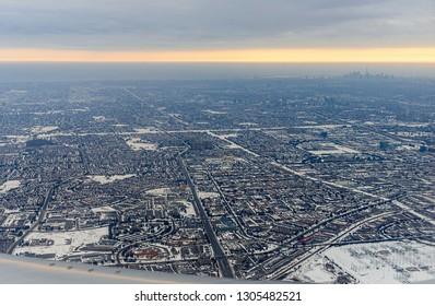 Aerial view of Toronto