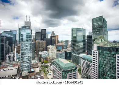 Aerial view of Toronto Downtown, Ontario, Canada