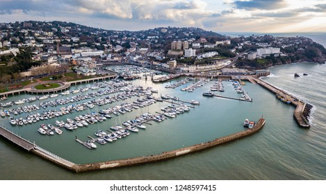 Aerial view of Torquay and harbour