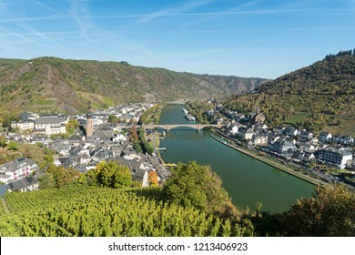 Aerial view of the town of Cochem taken from Cochem Castle, Germany