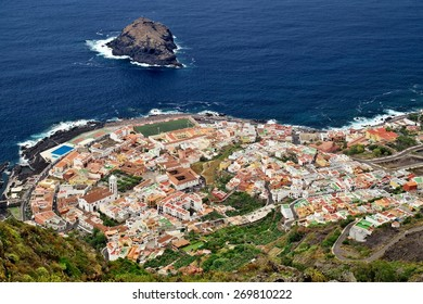 Aerial view of town Garachico, Tenerife