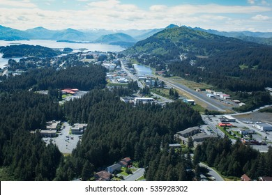 aerial  view of the town of Kodiak Alaska