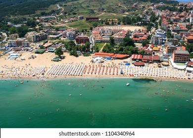 Aerial view of Town of Sozopol, Burgas Region, Bulgaria