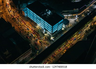 Aerial view of traffic representing modern technology
