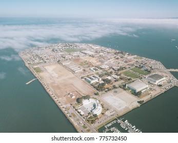 Aerial View of Treasure Island San Francisco California