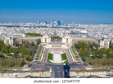 Aerial view of Trocadero, Paris