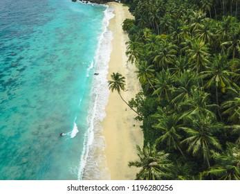 Aerial View of Tropical Island Beach, Sabang, Indonesia