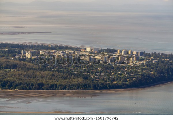 Aerial View of UBC in Vancouver, British Columbia, Canada, during a sunny summer day.