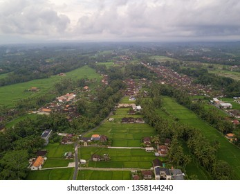 Aerial view of Ubud countryside in Bali, Indonesia
