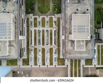 Aerial view of university Zurich Irchel