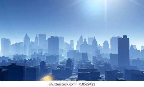 Aerial view of urban building skyline,architecture silhouette.
